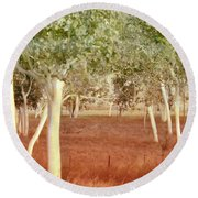 And The Trees Danced Round Beach Towel by Holly Kempe