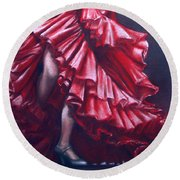 Andalucia Flamenco Round Beach Towel by Rosemary Colyer