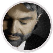 Andrea Bocelli And Square Round Beach Towel