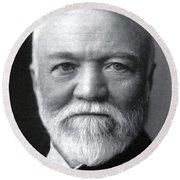 Andrew Carnegie, Scottish-american Round Beach Towel