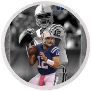 Andrew Luck Colts Round Beach Towel