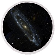 Andromeda Galaxy Round Beach Towel