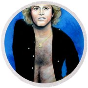 Andy Gibb An Everlasting Love  Round Beach Towel