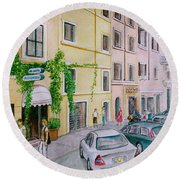 Anfiteatro Hotel Rome Italy Round Beach Towel by Frank Hunter