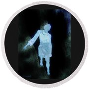 Round Beach Towel featuring the photograph Oh That I Were An Angel  by Larry Campbell