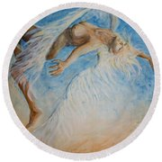 Angel Blu Drifter Round Beach Towel