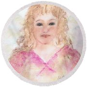 Angel Melissa Round Beach Towel