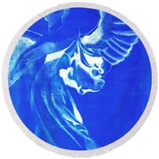 Angel Of The Horizon  Round Beach Towel