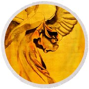 Angel Of The Horizon II Round Beach Towel