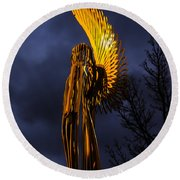 Angel Of The Morning Round Beach Towel by Steve Purnell