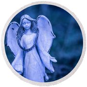 Angel Of The Rain Round Beach Towel