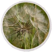 Angel Petals Round Beach Towel