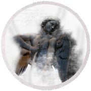 Angel Warrior Round Beach Towel