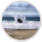 Angel Wing Waves Round Beach Towel