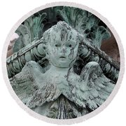 Round Beach Towel featuring the photograph Angel Wings by Ed Weidman