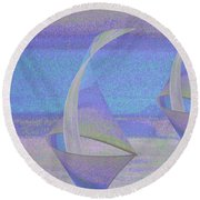 Angelfish3 Round Beach Towel