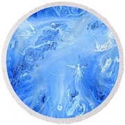 Angels In The Sky Iv Round Beach Towel