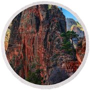 Angel's Landing Round Beach Towel