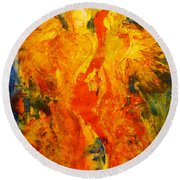 Angels Of Passion Round Beach Towel