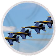 Angels Of The Sky Round Beach Towel