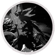 Angels Or Dragons B/w Round Beach Towel by Martin Howard