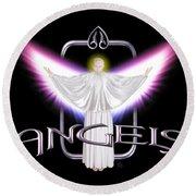 Angels Round Beach Towel
