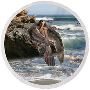Angels- Shhh Stand Still And Be Quiet Round Beach Towel