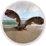 Angels- We Shall Not All Sleep Round Beach Towel