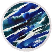 Angle Waves Round Beach Towel