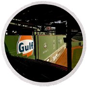 Angles Fenway Park  Round Beach Towel
