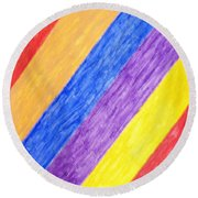 Round Beach Towel featuring the painting Angles by Stormm Bradshaw