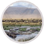 Animal Paradise Africa Round Beach Towel