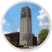 Ann Arbor Michigan Clock Tower Round Beach Towel
