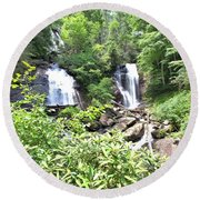 Anna Ruby Falls - Georgia - 1 Round Beach Towel