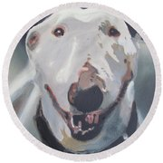 Anna The Bullie Round Beach Towel