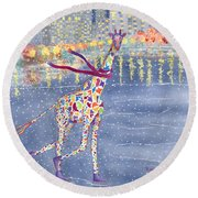 Annabelle On Ice Round Beach Towel by Rhonda Leonard