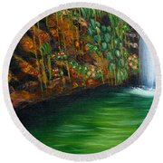 Annadale Waterfall Round Beach Towel
