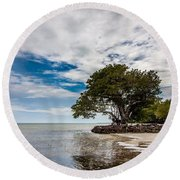 Anne's Beach-3184 Round Beach Towel