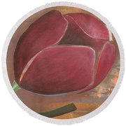 Anniversary Flower Round Beach Towel