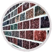 Another Brick In The Wall Round Beach Towel by Deena Stoddard