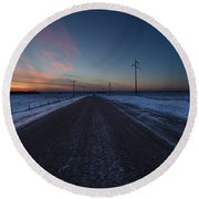 another Cold Road to Nowhere Round Beach Towel