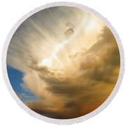 Another Incredible Cloud Round Beach Towel