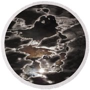 Another Sky Round Beach Towel