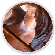 Antelope Canyon Round Beach Towel by Dany Lison