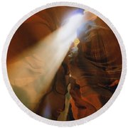 Antelope Canyon One Round Beach Towel