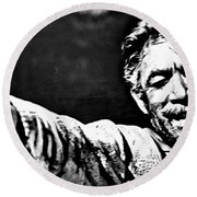Anthony Quinn As Zorba Round Beach Towel