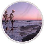 Anthropology Shared Similarities  Round Beach Towel