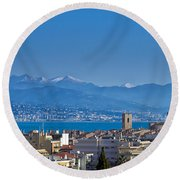 Antibes Round Beach Towel