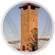 Antietam's Stone Tower Round Beach Towel