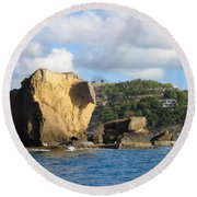 Antigua - Aliens Round Beach Towel